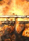 Fire burning wood Royalty Free Stock Photo