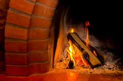 Fire. burning wood Stock Photo