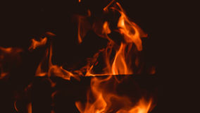 Fire: burning wood in the fireplace Stock Photo