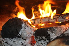 Fire. Burning wood Royalty Free Stock Photography