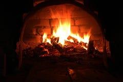 Fire burns Stock Image
