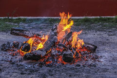 Fire burns down Royalty Free Stock Photography