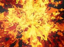 Fire burst backgrounds. Fire burst on black backgrounds Royalty Free Stock Photo