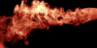 Fire burst on the black background.  Stock Images