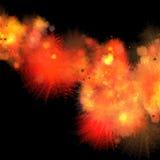 Fire burst. Fire burst on black background Royalty Free Stock Photo