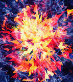 Fire burst and broken elements Royalty Free Stock Photos