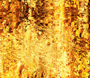 Fire burst and broken elements. Background with grainy particle Stock Image