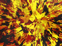 Fire burst and broken elements Royalty Free Stock Photography