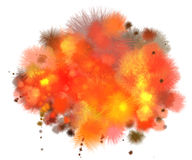 Fire burst. Fire burst on white background Stock Photo
