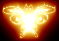 Fire butterfly. Abstract fire butterfly on a dark background Stock Image