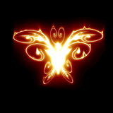 Fire butterfly. Abstract fire butterfly on a dark background Stock Images