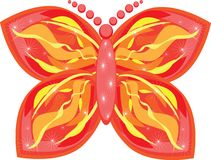 Fire butterfly on isolated background Royalty Free Stock Photos