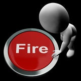 Fire Button Means Emergency Evacuation And 111. Fire Button Meaning Emergency Evacuation And 111 royalty free illustration