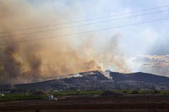 Fire in Calicanto Torrrent, Valencia April 22 2014 Stock Image