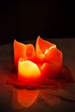 Fire in candle Stock Image