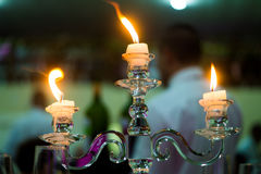 Fire candlelight. Fire tuning in a Brazilian wedding Royalty Free Stock Photo