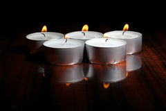 Fire of candles Royalty Free Stock Photo