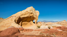 Fire Canyon Arch, Virgin Mountains, Valley of Fire State Park, NV Royalty Free Stock Photography