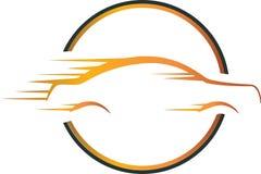 Fire car logo concept Stock Photos