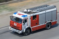 Fire car Stock Images