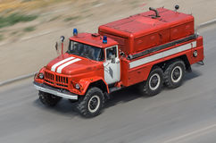 Fire car Stock Photo