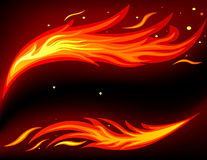 Fire card. Vector of card with abstract fire background Stock Photography