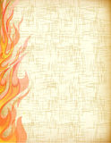 Fire card. Vector of fire grunge paper Stock Images