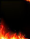 Fire card. Vector of fire black card Royalty Free Stock Images