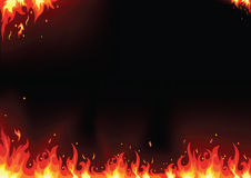 Fire cards. Vector of fire flame background Royalty Free Stock Images