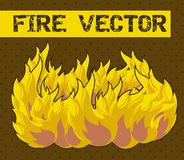 Fire cartoon. Over brown background. vector illustration Royalty Free Stock Images