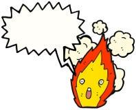 Fire Cartoon Character. Hand drawn  cartoon of a fire cartoon character Stock Photo
