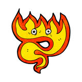 Fire cartoon element Stock Images