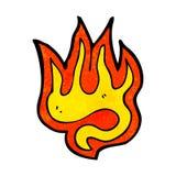 Fire cartoon symbol. Retro cartoon with texture. Isolated on White Royalty Free Stock Image