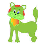 Cat character cartoon vector funny. Magic motley funny fire cat Stock Photos