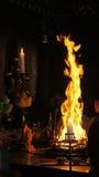 Fire ceremony in Ekoin Temple in Koyasan, Japan Royalty Free Stock Photo