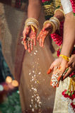 Fire ceremony at a Tamil Hindu wedding Stock Photography