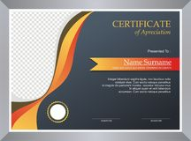 Fire Certificate - Diploma Template design Royalty Free Stock Images