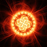 Fire chaos rays Royalty Free Stock Photos