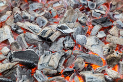 Fire and charcoal Royalty Free Stock Image
