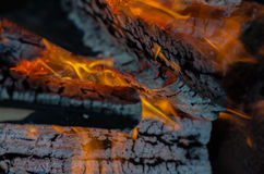 Fire, charcoal, temperature, flame, embers, burning, wood, bonfire, ash, campfire, orange, yellow Stock Images