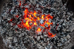 Fire and charred Stock Photos