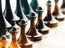 Fire chess Stock Photo