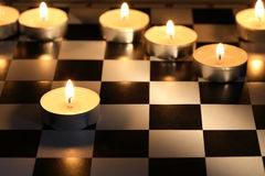 Fire Chess Game Royalty Free Stock Photography