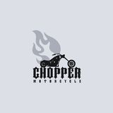 Fire chopper motorcycle Royalty Free Stock Images
