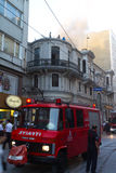 Fire at Cicek Pasaji Royalty Free Stock Images