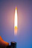 Fire from a cigarette-lighter Royalty Free Stock Photography