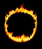 Fire circle. Fire burning form a circle, studio shot Royalty Free Stock Photo