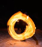 Fire circle Royalty Free Stock Photography