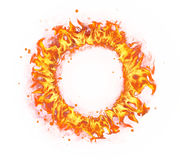 Fire circle isolated on white background royalty free stock photography