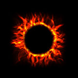 Fire Circle. Vector fire cricle rendered over black background Stock Images